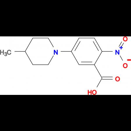 5-(4-Methylpiperidin-1-yl)-2-nitrobenzoic acid