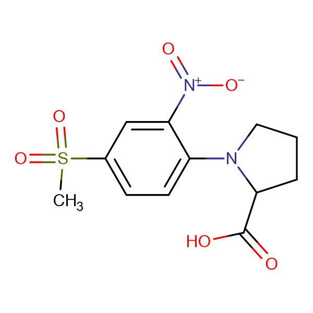 1-(4-Methylsulfonyl-2-nitrophenyl)pyrrolidine-2-carboxylic acid