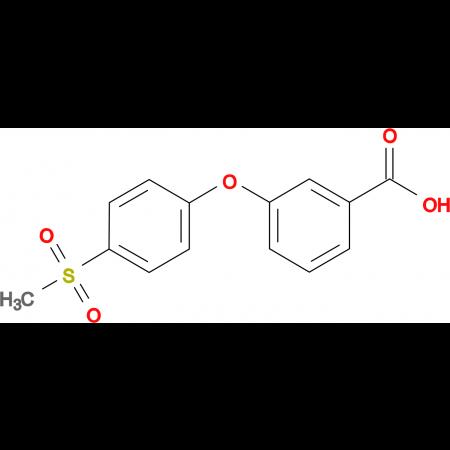 3-[(4-Methylsulfonyl)phenoxy]benzoic acid