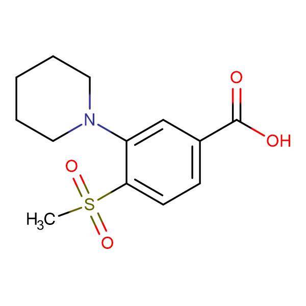 4-Methylsulfonyl-3-(piperidin-1-yl)benzoic acid