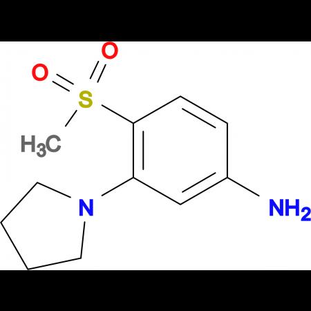 4-Methylsulfonyl-3-(pyrrolidin-1-yl)aniline