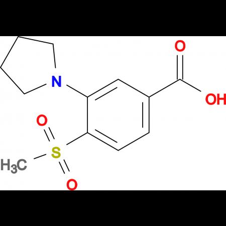 4-Methylsulfonyl-3-(pyrrolidin-1-yl)benzoic acid