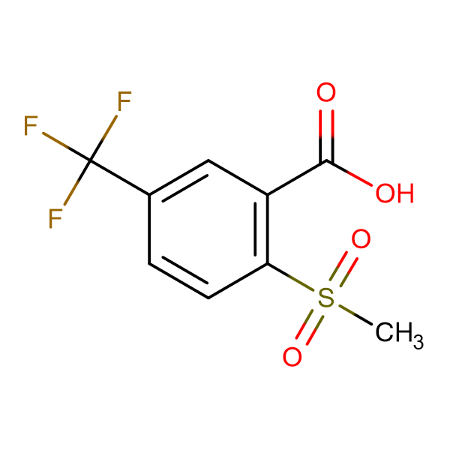2-Methylsulfonyl-5-(trifluoromethyl)benzoic acid