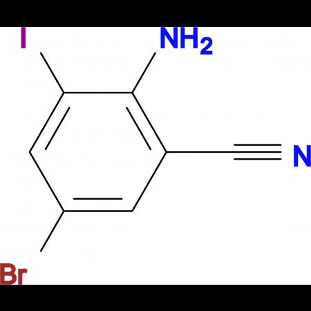 2-Amino-5-bromo-3-iodobenzonitrile