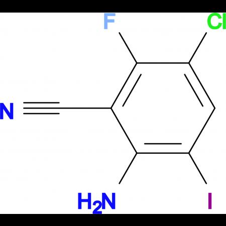 2-Amino-5-chloro-6-fluoro-3-iodobenzonitrile