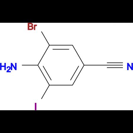 4-Amino-3-bromo-5-iodobenzonitrile