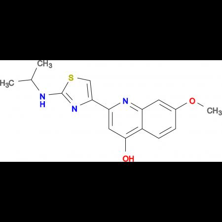 2-(2-Isopropylamino-thiazol-4-yl)-7-methoxy-quinolin-4-ol