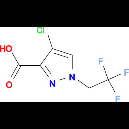 4-Chloro-1-(2,2,2-trifluoroethyl)-1H-pyrazole-3-carboxylic acid