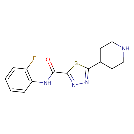 N-(2-Fluorophenyl)-5-piperidin-4-yl-1,3,4-thiadiazole-2-carboxamide