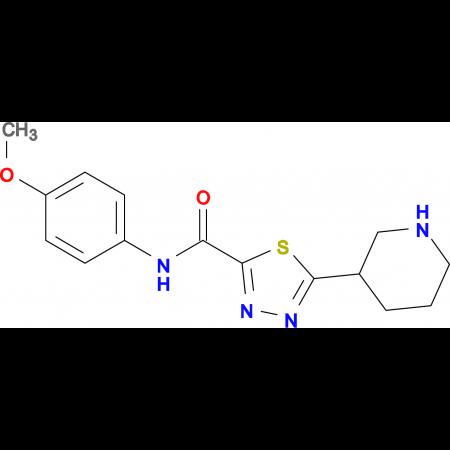 N-(4-Methyoxyphenyl)-5-piperidin-3-yl-1,3,4-thiadiazole-2-carboxamide