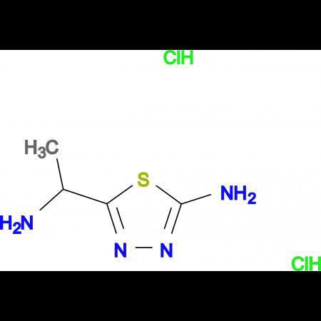 5-(1-Aminoethyl)-[1,3,4]thiadiazol-2-ylaminedihydrochloride