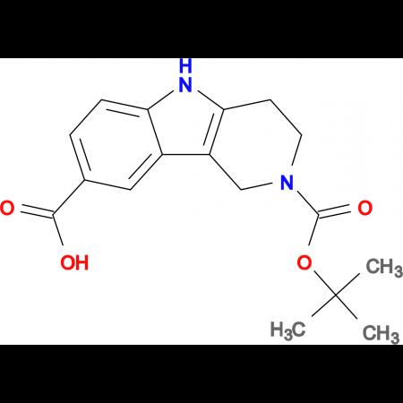 2-Boc-1,3,4,5-Tetrahydro-pyrido[4,3-b]indole-8-carboxylic acid