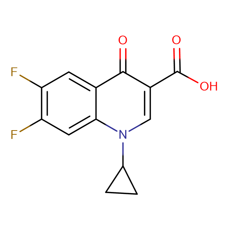 6,7-Difluoro-4-oxo-1-cyclopropyl-1,4-dihydro-quinoline-3-carboxylic acid