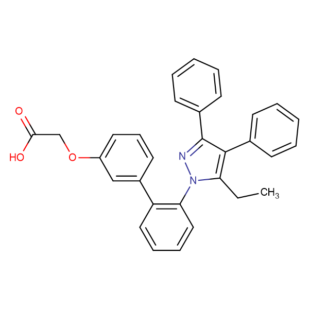 [2'-(5-ethyl-3,4-diphenyl-pyrazol-1-yl)-biphenyl-3-yloxy]acetic acid