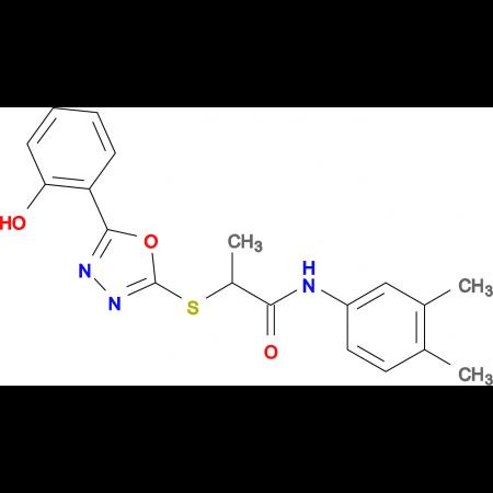 N-(3,4-Dimethyl-phenyl)-2-[5-(2-hydroxy-phenyl)-[1,3,4]oxadiazol-2-ylsulfanyl]-propionamide