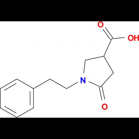 5-Oxo-1-phenethyl-pyrrolidine-3-carboxylic acid