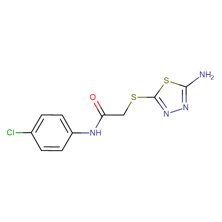 2-(5-Amino-[1,3,4]thiadiazol-2-ylsulfanyl)-N-(4-chloro-phenyl)-acetamide