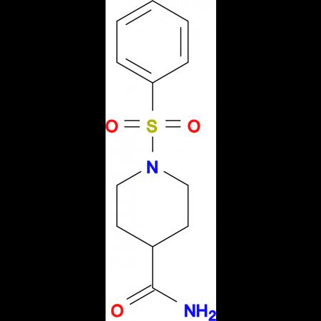 1-Benzenesulfonyl-piperidine-4-carboxylic acid amide