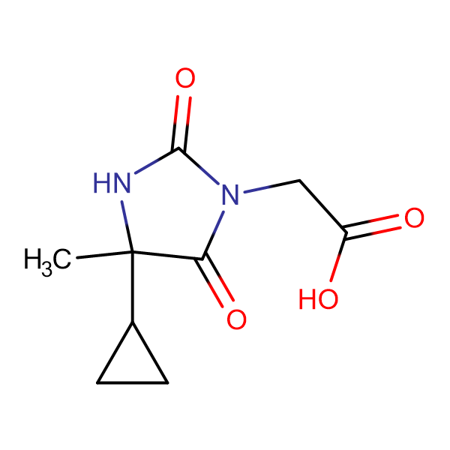 (4-Cyclopropyl-4-methyl-2,5-dioxo-imidazolidin-1-yl)-acetic acid