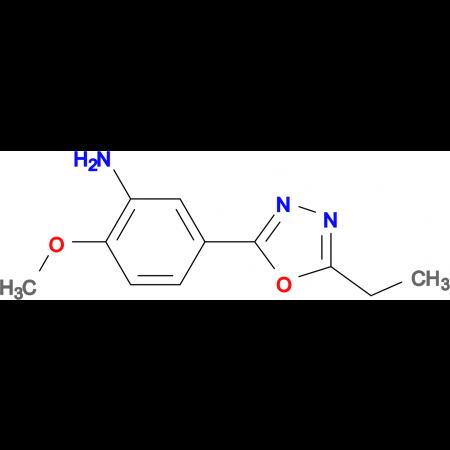 5-(5-Ethyl-[1,3,4]oxadiazol-2-yl)-2-methoxy-phenylamine