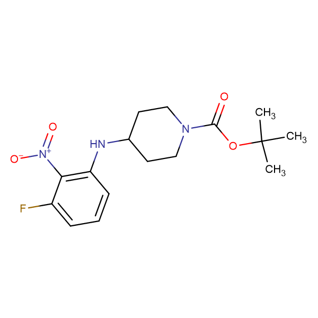 tert-Butyl 4-(3-fluoro-2-nitrophenylamino)piperidine-1-carboxylate