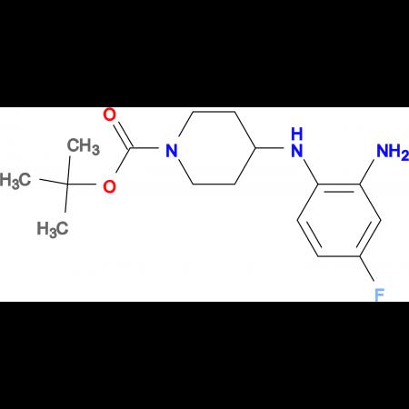 tert-Butyl 4-(2-amino-4-fluorophenylamino)piperidine-1-carboxylate