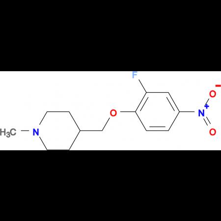 4-[(2-Fluoro-4-nitrophenoxy)methyl]-1-methylpiperidine