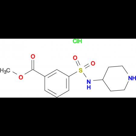 Methyl 3-[(piperidin-4-yl)sulfamoyl]benzoate hydrochloride
