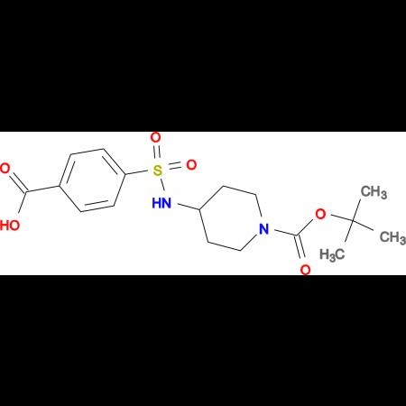 4-[1-(tert-Butoxycarbonyl)piperidin-4-ylaminosulfonyl]benzoic acid