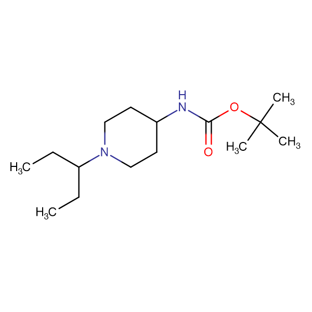 tert-Butyl 1-(pentan-3-yl)piperidin-4-ylcarbamate