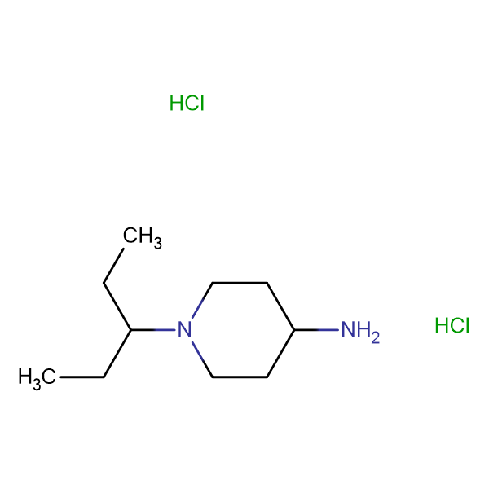 1-(Pentan-3-yl)piperidin-4-amine dihydrochloride