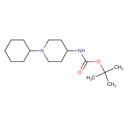 tert-Butyl 1-cyclohexylpiperidin-4-ylcarbamate