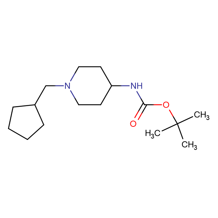 tert-Butyl 1-(cyclopentylmethyl)piperidin-4-ylcarbamate