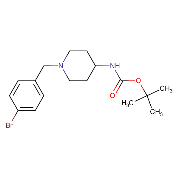 tert-Butyl 1-(4-bromobenzyl)piperidin-4-ylcarbamate