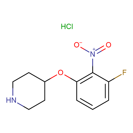 4-(3-Fluoro-2-nitrophenoxy)piperidine hydrochloride