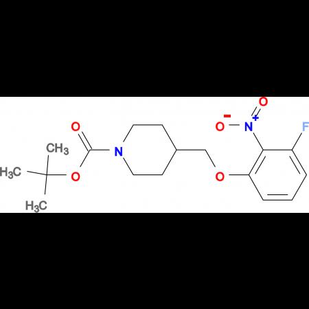 tert-Butyl 4-[(3-fluoro-2-nitrophenoxy)methyl]piperidine-1-carboxylate
