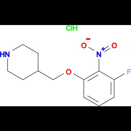 4-[(3-Fluoro-2-nitrophenoxy)methyl]piperidine hydrochloride