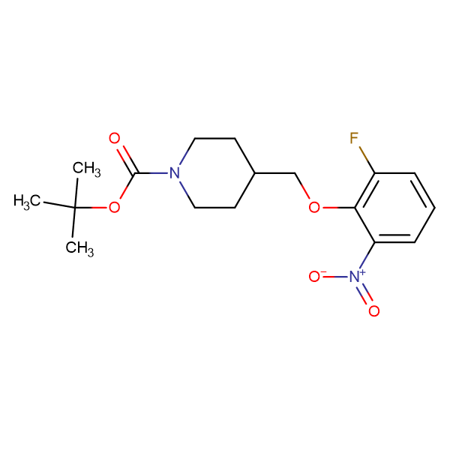 tert-Butyl 4-[(2-fluoro-6-nitrophenoxy)methyl]piperidine-1-carboxylate