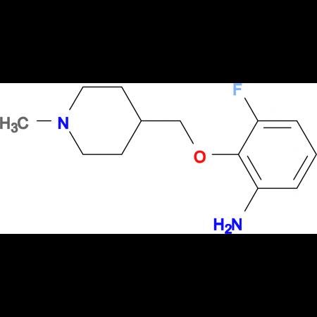 3-Fluoro-2-[(1-methylpiperidin-4-yl)methoxy]aniline