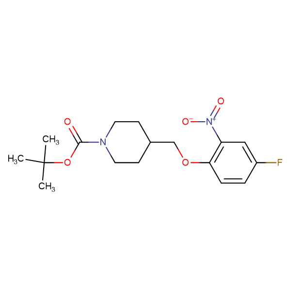 tert-Butyl 4-[(4-fluoro-2-nitrophenoxy)methyl]piperidine-1-carboxylate