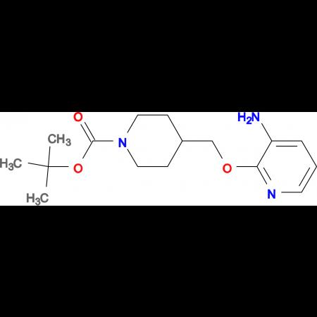 tert-Butyl 4-[(3-aminopyridin-2-yloxy)methyl]piperidine-1-carboxylate