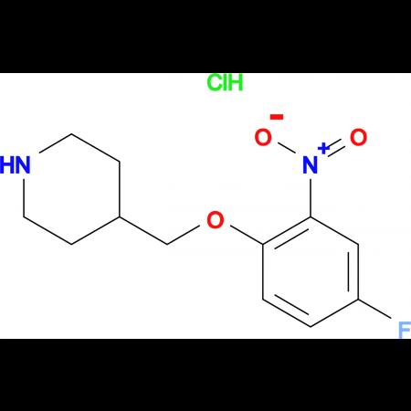 4-[(4-Fluoro-2-nitrophenoxy)methyl]piperidine hydrochloride