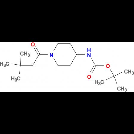 tert-Butyl 1-(3,3-dimethylbutanoyl)piperidin-4-ylcarbamate