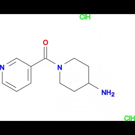 (4-Aminopiperidin-1-yl)(pyridin-3-yl)methanone dihydrochloride