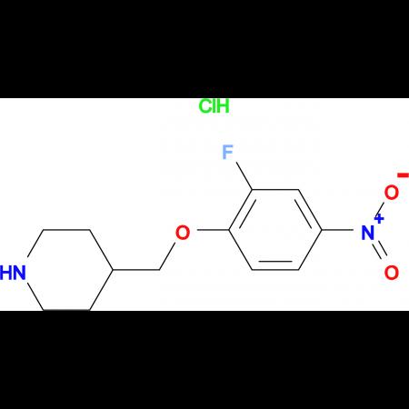 4-[(2-Fluoro-4-nitrophenoxy)methyl]piperidine hydrochloride