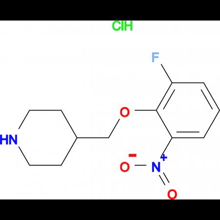 4-[(2-Fluoro-6-nitrophenoxy)methyl]piperidine hydrochloride