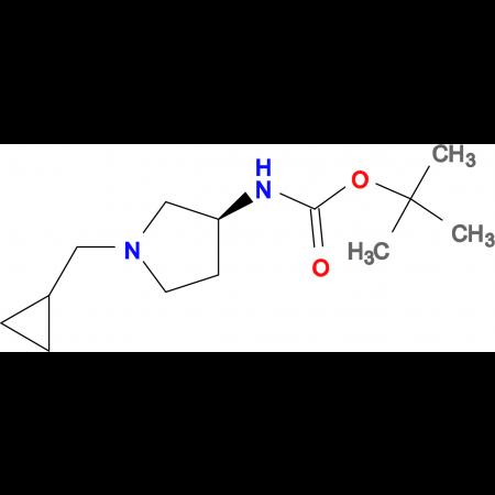 (S)-tert-Butyl 1-(cyclopropylmethyl)pyrrolidin-3-ylcarbamate