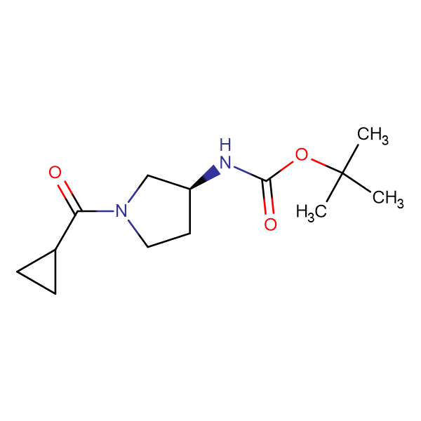 (S)-tert-Butyl 1-(cyclopropanecarbonyl)pyrrolidin-3-ylcarbamate