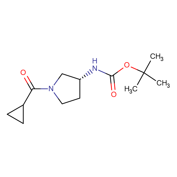 (R)-tert-Butyl 1-(cyclopropanecarbonyl)pyrrolidin-3-ylcarbamate