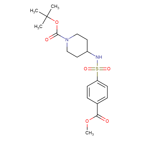tert-Butyl 4-(4-(methoxycarbonyl)phenylsulfonamido)piperidine-1-carboxylate